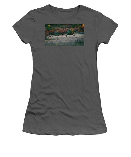 Autumn Bull Elk Women's T-Shirt (Athletic Fit)