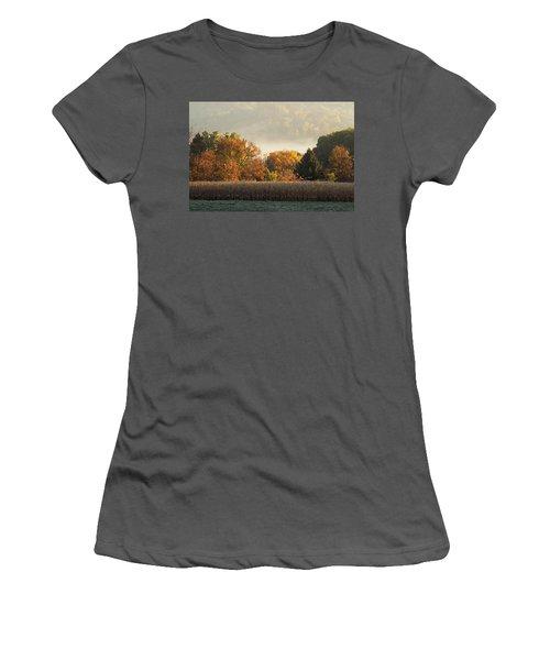 Autumn Cornfield Women's T-Shirt (Athletic Fit)