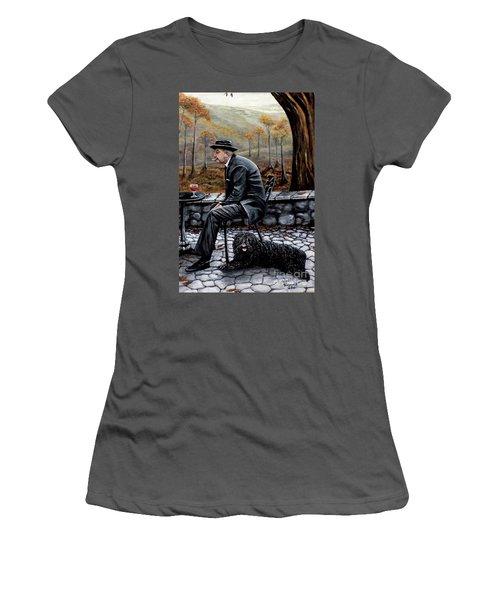 Autumn Friends Women's T-Shirt (Junior Cut) by Judy Kirouac