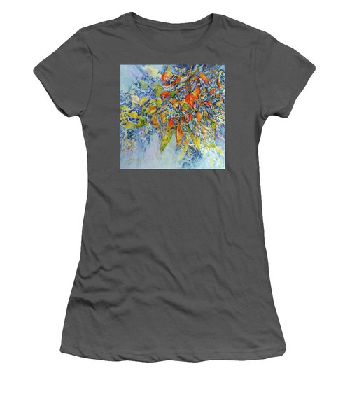 Women's T-Shirt (Junior Cut) featuring the painting Autumn Lace by Joanne Smoley