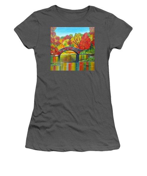 Autumn Landscape -colors Of Fall Women's T-Shirt (Athletic Fit)