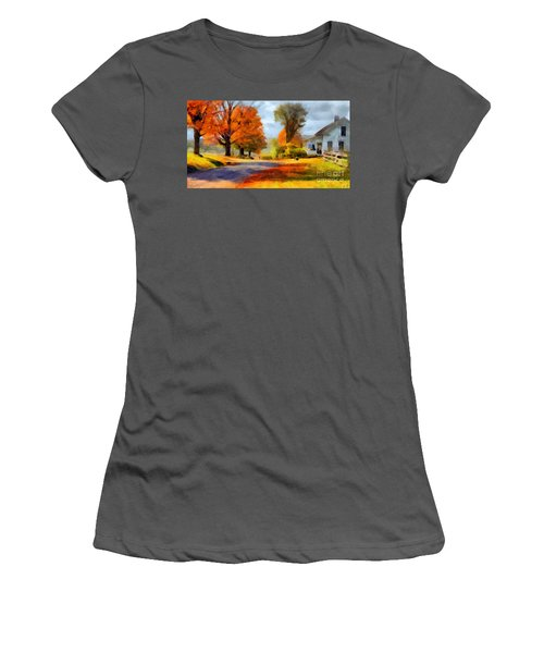 Autumn Landscape Women's T-Shirt (Junior Cut) by Sergey Lukashin