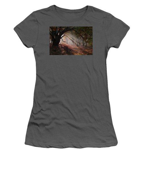 Women's T-Shirt (Junior Cut) featuring the photograph Autumn Light  by Scott Carruthers