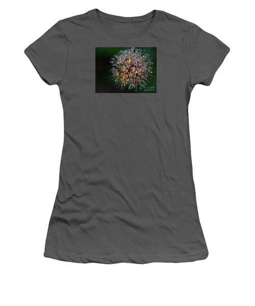 Women's T-Shirt (Junior Cut) featuring the photograph Autumn Pearls by AmaS Art