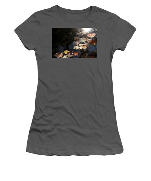 Autumn With Leaves On Water Women's T-Shirt (Athletic Fit)