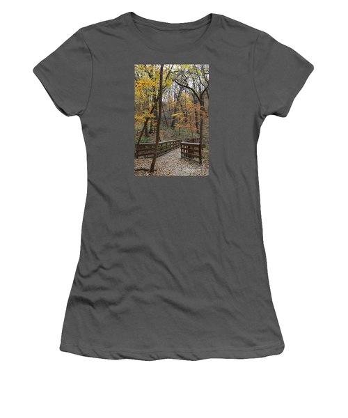 Autumnal Leaves Women's T-Shirt (Junior Cut)