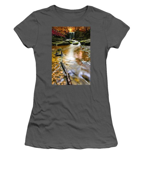 Autumnal Waterfall Women's T-Shirt (Athletic Fit)