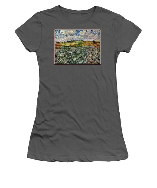 Women's T-Shirt (Junior Cut) featuring the painting Landscape Auvers28 by Pemaro