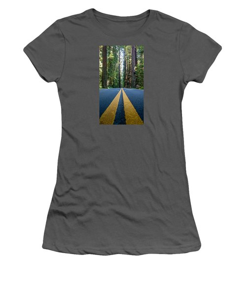 Avenue Of The Giants Women's T-Shirt (Junior Cut) by Alpha Wanderlust
