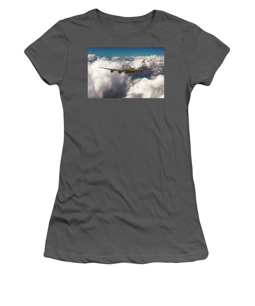 Avro Lancaster Above Clouds Women's T-Shirt (Athletic Fit)