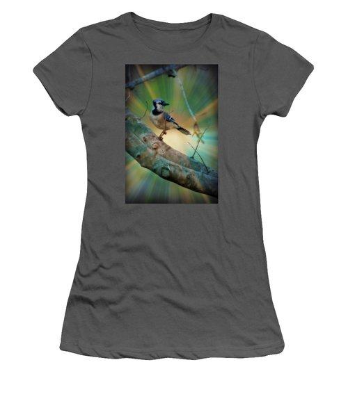 Baby Blue Women's T-Shirt (Junior Cut) by Trish Tritz