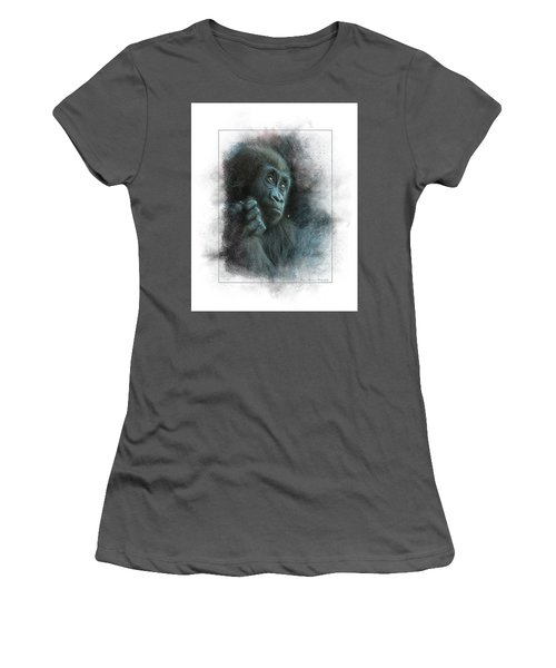 Baby Gorilla Women's T-Shirt (Athletic Fit)