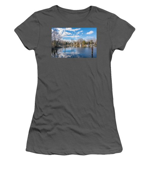 Women's T-Shirt (Athletic Fit) featuring the photograph Back Creek by Charles Kraus