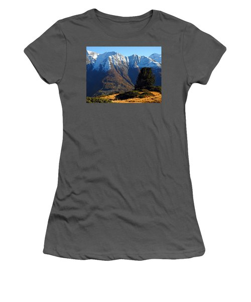 Baettlihorn In Valais, Switzerland Women's T-Shirt (Junior Cut) by Ernst Dittmar