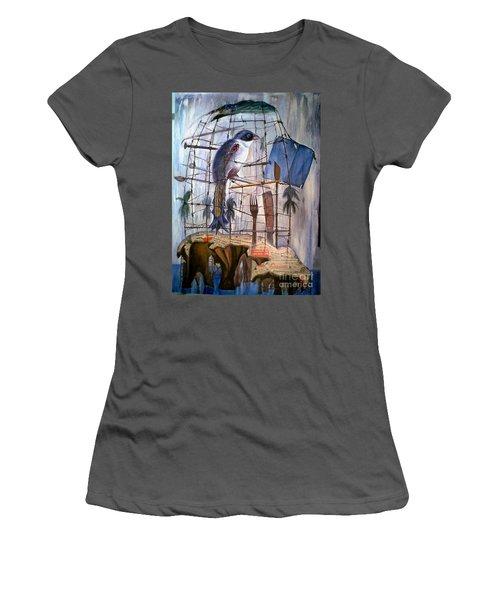 Bajo Mis Propias Alas Women's T-Shirt (Junior Cut) by Jorge L Martinez Camilleri