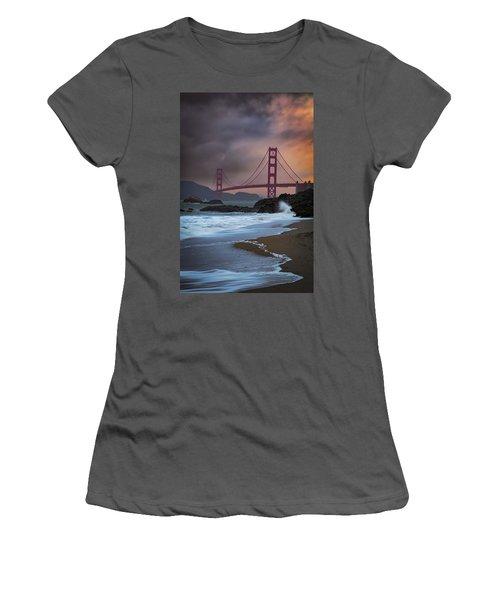 Baker's Beach Women's T-Shirt (Athletic Fit)