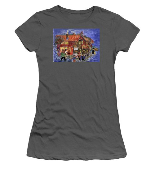 Bakers Inn Winter Holiday Landscape Women's T-Shirt (Athletic Fit)