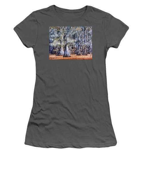 Bald Cypress In Caddo Lake Women's T-Shirt (Junior Cut) by Sumoflam Photography