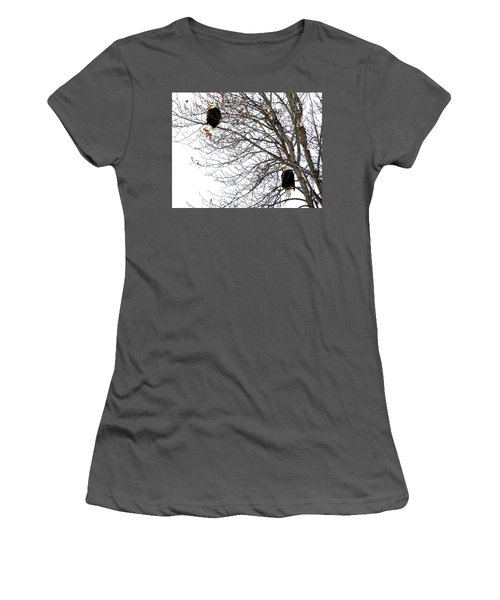 Bald Eagle Pair Women's T-Shirt (Junior Cut) by Will Borden