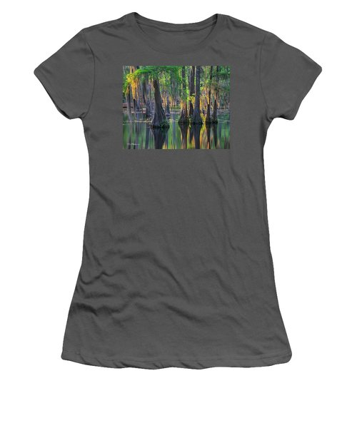 Baldcypress Trees, Louisiana Women's T-Shirt (Athletic Fit)