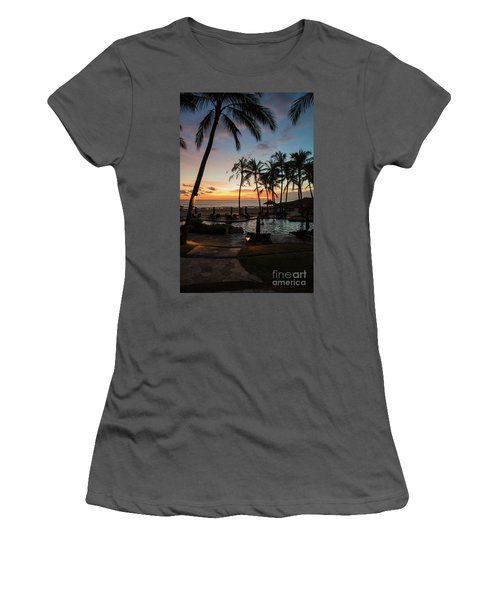 Bali Sunset Women's T-Shirt (Athletic Fit)