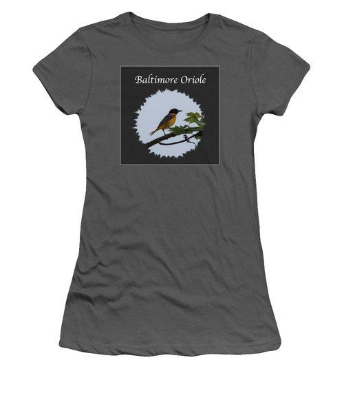 Baltimore Oriole  Women's T-Shirt (Junior Cut) by Jan M Holden