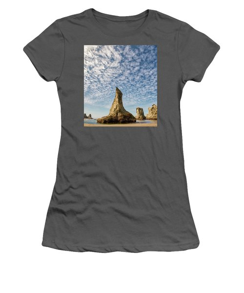Bandon Sea Stacks Women's T-Shirt (Athletic Fit)