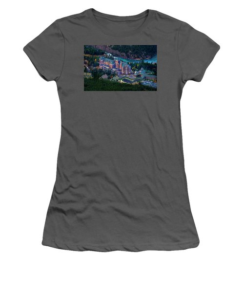 Women's T-Shirt (Junior Cut) featuring the photograph Banff Springs Hotel by John Poon