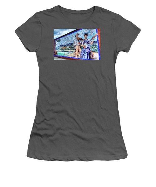 Banjo Mural Women's T-Shirt (Athletic Fit)