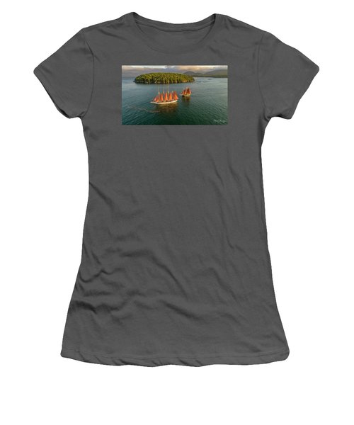 Sailing Thru Life The Downeast Way Women's T-Shirt (Athletic Fit)