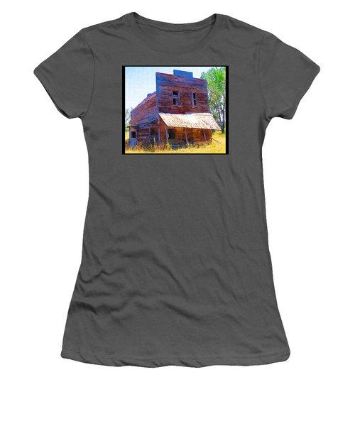 Women's T-Shirt (Junior Cut) featuring the photograph Barber Store by Susan Kinney