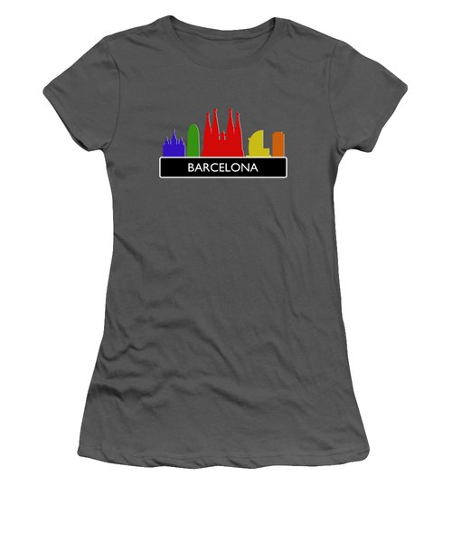 Barcelona Skyline Women's T-Shirt (Athletic Fit)