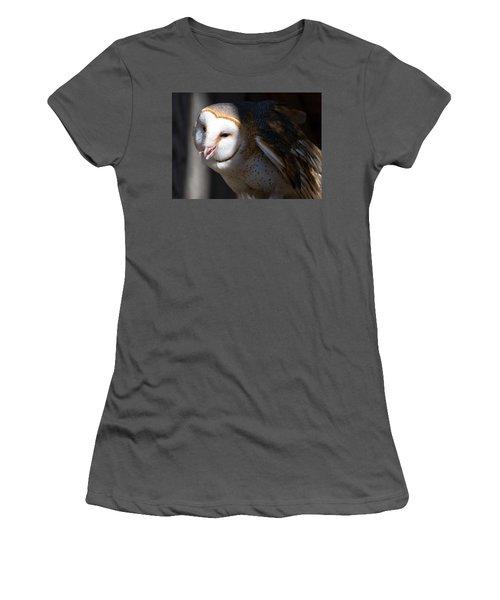 Barn Owl 1 Women's T-Shirt (Athletic Fit)