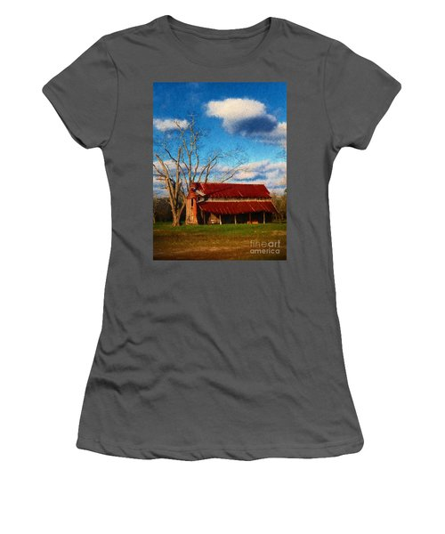 Red Roof Barn 2 Women's T-Shirt (Athletic Fit)