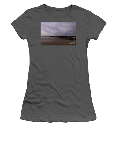 Women's T-Shirt (Athletic Fit) featuring the photograph Barwon Heads Bridge by Linda Lees