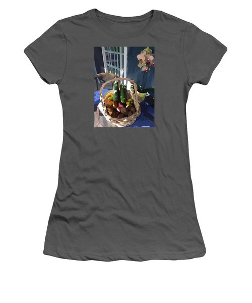Basket Of Veggies And Orchid Women's T-Shirt (Athletic Fit)