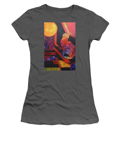 Basking Cat Women's T-Shirt (Athletic Fit)