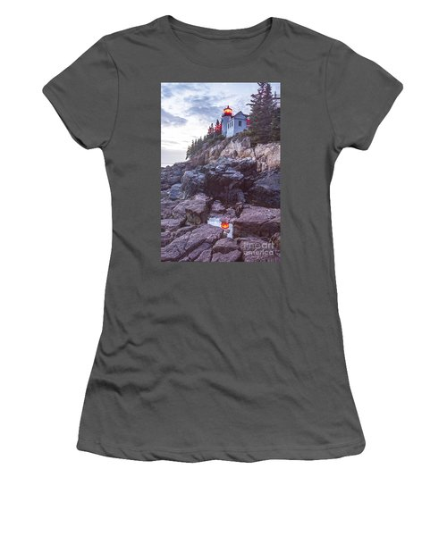 Bass Harbor Light Reflection Women's T-Shirt (Athletic Fit)