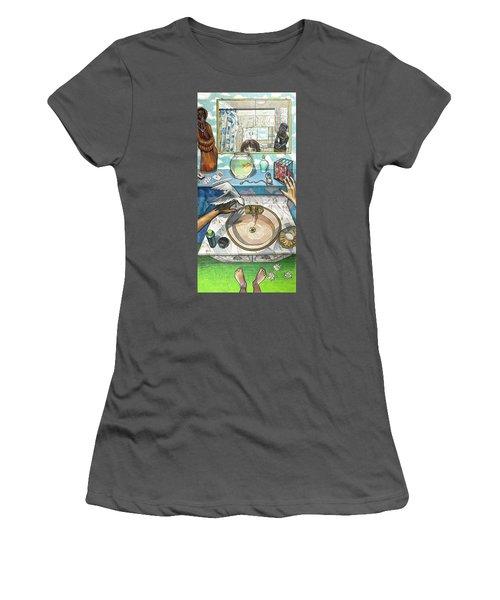 Bathroom Self Portrait Women's T-Shirt (Athletic Fit)