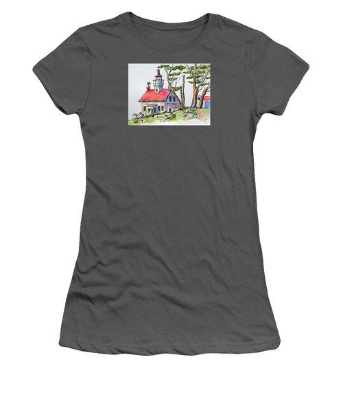 Battery Point Lighthouse Women's T-Shirt (Junior Cut) by Terry Banderas