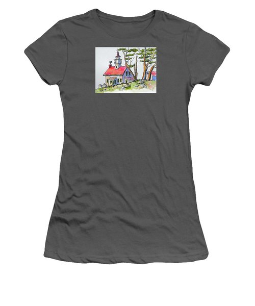 Battery Point Lighthouse Women's T-Shirt (Athletic Fit)