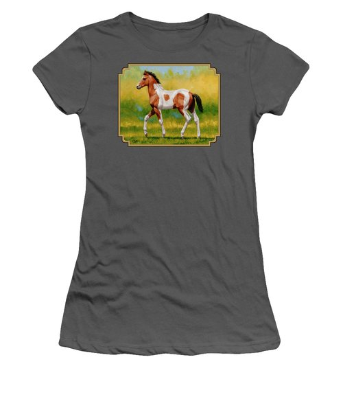 Bay Pinto Foal Women's T-Shirt (Athletic Fit)