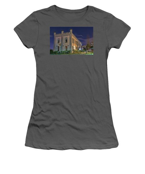 Women's T-Shirt (Junior Cut) featuring the mixed media B.c.penitentiary by Jim  Hatch