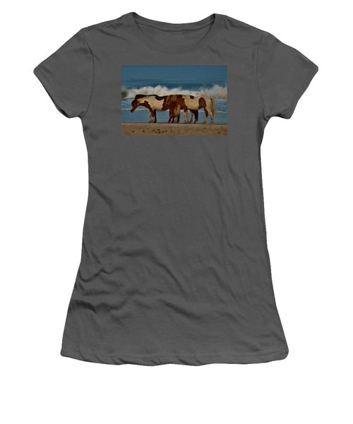 Beach Bum Ponies Women's T-Shirt (Athletic Fit)