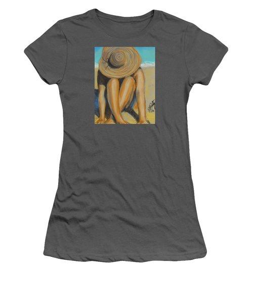 Beach Hat Women's T-Shirt (Athletic Fit)