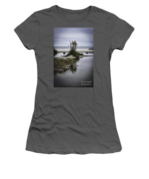 Beach Island Women's T-Shirt (Junior Cut) by Judy Wolinsky
