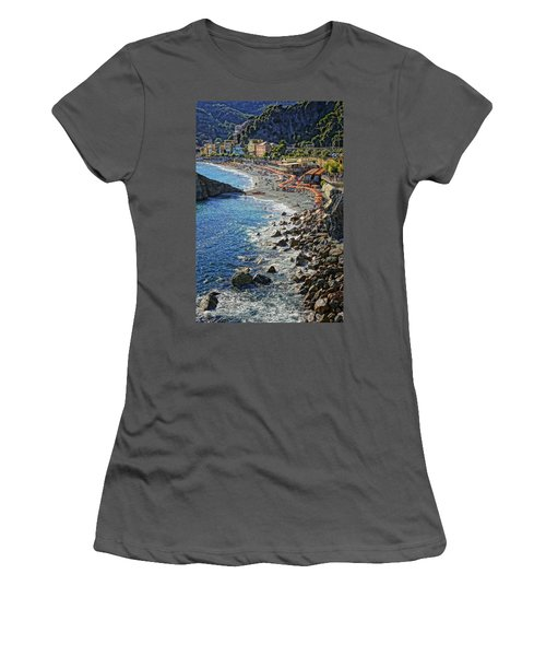 Beach Monterosso Italy Dsc02467 Women's T-Shirt (Athletic Fit)