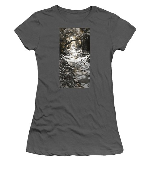 Beach Park Storm Drain Women's T-Shirt (Athletic Fit)