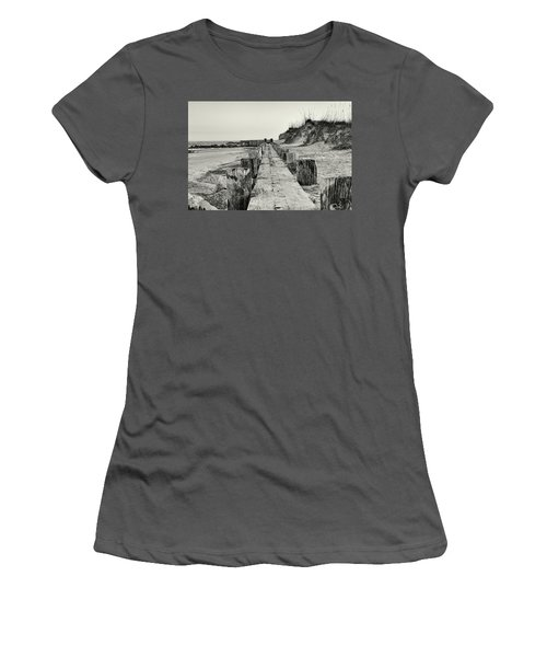 Beach Pilings Women's T-Shirt (Athletic Fit)