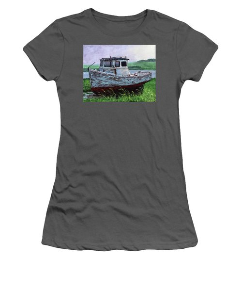 Beached At Bay Of Ayre Women's T-Shirt (Athletic Fit)